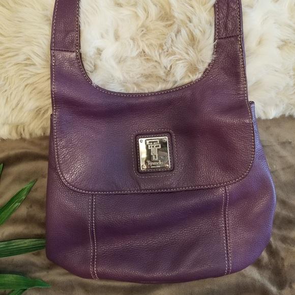 129d6165ccdf EUC Tignanello Eggplant Purple Leather Purse. M 5b4cda5fc617779bfe9cd760